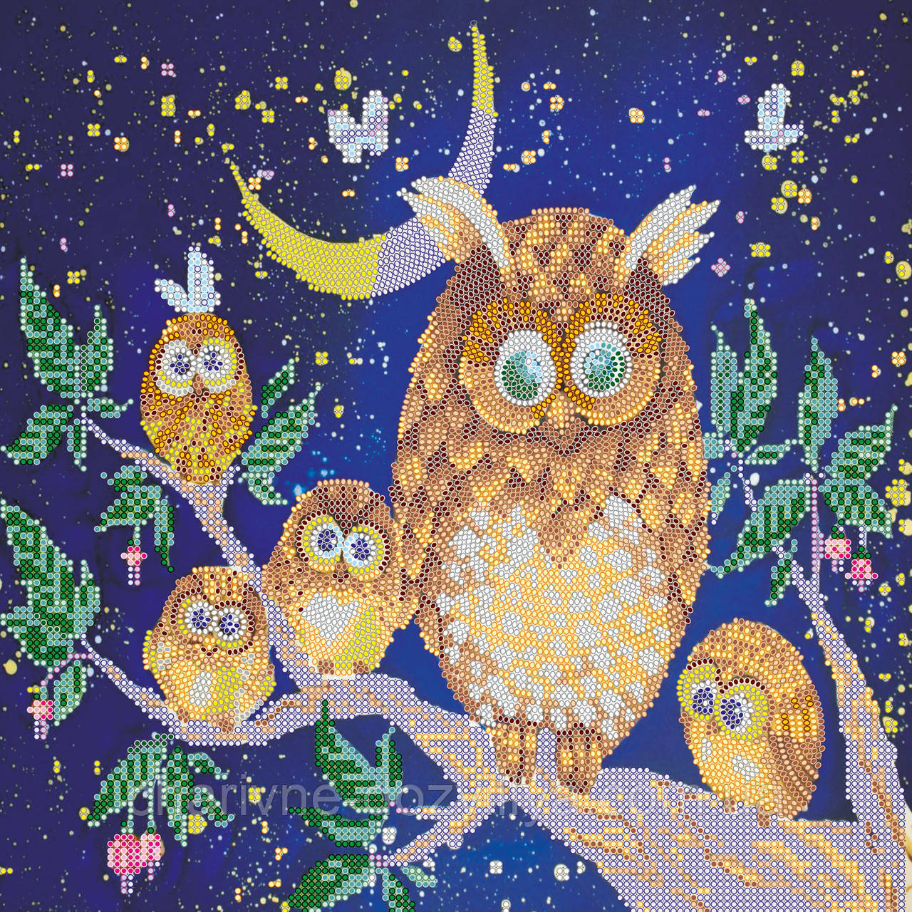 """Схема для вышивки бисером на художественном холсте """"Ночные птицы"""" - интернет-магазин Чарівниця в Херсоне"""