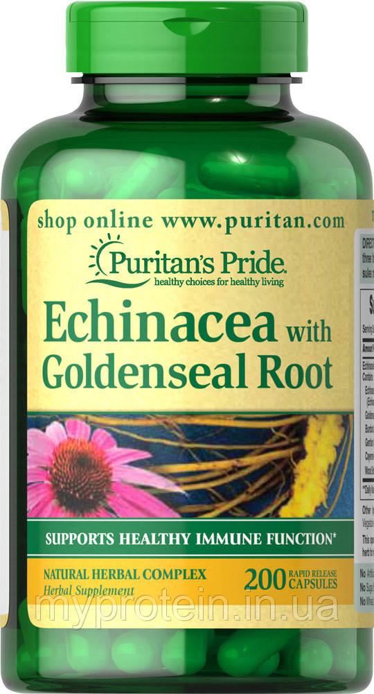 Экстракт Эхинацеи Echinacea with Goldenseal Root  100 caps