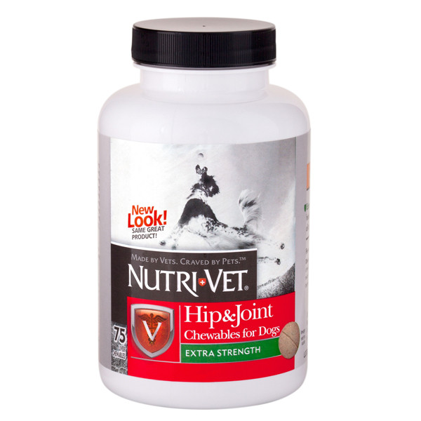 Nutri-Vet Hip&Joint Extra НУТРИ-ВЕТ СВЯЗКИ И СУСТАВЫ ЭКСТРА, 2 уровень, хондроитин и глюкозамин для собак, с МСМ, 120табл