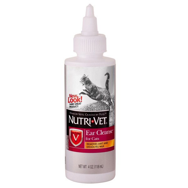Nutri-Vet Ear Cleanse НУТРИ-ВЕТ ЧИСТЫЕ УШИ ушные капли для кошек, 118 мл