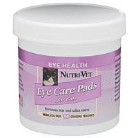 Nutri-Vet Tear Stain Removal cat НУТРИ-ВЕТ ОЧИСТКА ПЯТЕН влажные салфетки для кошек, от пятен под глазами, вок