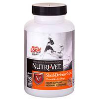 Nutri-Vet Shed Defense НУТРИ-ВЕТ ЗАЩИТА ШЕРСТИ витаминный комплекс для шерсти собак, с Омега3, 60 табл.