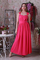 Красивое элегантное летнее длинное женское платье.