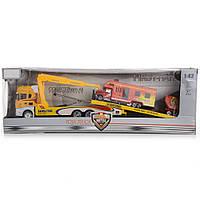 Игрушечный автомобиль-эвакуатор IM311/YL желтый (T45-00933)