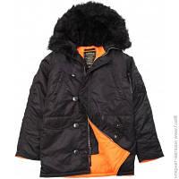Куртка Alpha Industries Slim Fit N-3B Black/Orange, S (MJN31210C1)