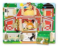 Деревянная доска с замочками Melissa & Doug - Ферма