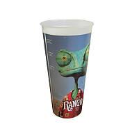 Стакан пластиковый для напитка «Rango» с крышкой, V22 (0,5л), EU