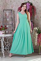 Нежное легкое летнее трикотажное женское платье.