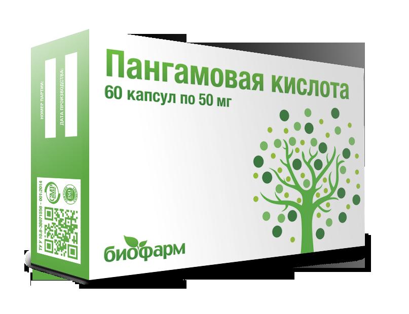 Витамин В-15 (50 мг) (Calcium Pangamate) 60 капсул