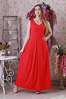 Нарядное летнее женское платье макси.