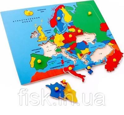 Карта Европы (пазлы)  - ОБЩЕСТВО С ОГРАНИЧЕННОЙ ОТВЕТСТВЕННОСТЬЮ  «ФИСК» в Одессе