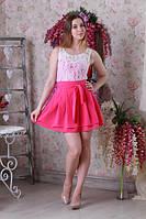 Нежное легкое летнее гипюровое женское платье.