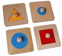 Рамки с геометрическими вкладками (4 шт)