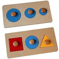 Пазлы с геометрическими фигурами разной формы