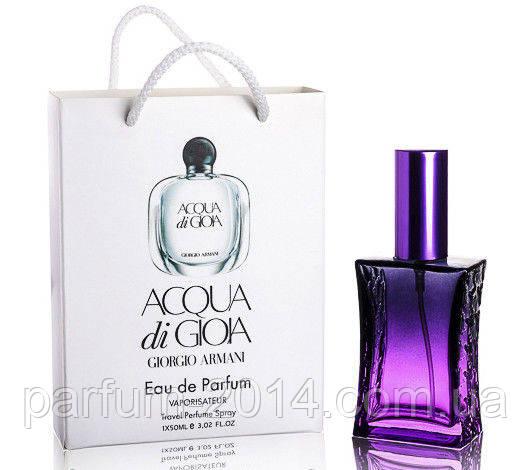 Мини парфюм  Armani Acqua di Gioia в подарочной упаковке 50 ml (реплика) - Parfum-2014 - Интернет-магазин парфюмерии и косметики в Харькове