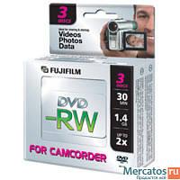 Диски DVD Fujifilm 8cm DVD+RW 1,4GB