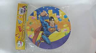 """Тарілки папер. """"Супермен"""" 23,5 см"""