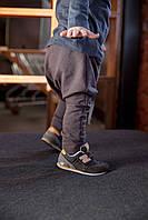 Хлопковые штаны гаремы цвета мокко. Унисекс. Размер:  86 см, фото 1