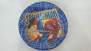 """Тарілки папер. 'Спайдермен"""" 18 см"""