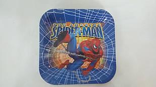 """Тарілки папер. """"Спайдермен"""" квадр. 18 см"""