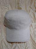 Мужская немка  молочного цвета лен раз 59-60-62 см, фото 2