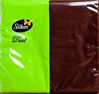 Салфетки два цвета Салатно-шоколадные 8 штук