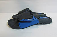 Мужские шлепанцы Rider (81144-20729) черные с синим код 0270А