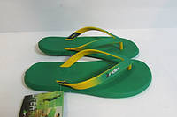 Мужские вьетнамки Rider (81138-02663) зеленые с желтым код 0271А
