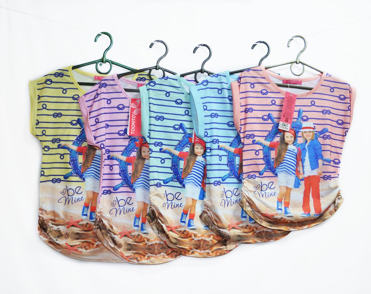 Туника детская для девочки.Новинка  Турция. Рост 110, 116, 122, 128. Tontoy 8034