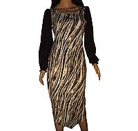 Красивое трикотажное платье на выпускной, торжественный случай (миди)