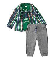 Детский стильный комплект C&A для мальчика (брюки, рубашка, футболка)