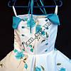 Платье нарядное бальное детское Нежная роза 6 лет белое с голубым Украина оптом., фото 3