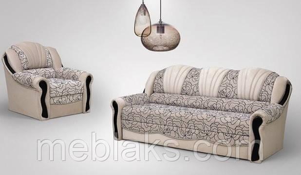 Комплект мягкий диван + 2 кресла  Лидия (дельфин)   Udin