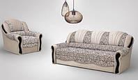 Комплект мягкий диван + 2 кресла  Лидия (дельфин)