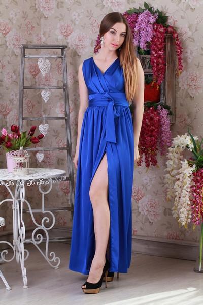 Елегантне шовкове літній молодіжне плаття.