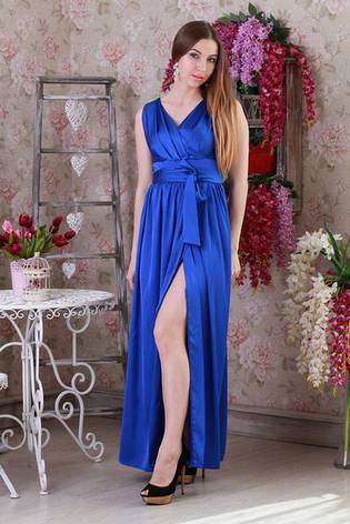 Елегантне шовкове літній молодіжне плаття., фото 2