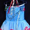 Платье нарядное бальное детское Шикарная роза (3D- рисунок) 6 лет голубое Украина оптом., фото 3
