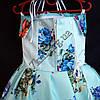 Платье нарядное бальное детское Пионы (3D- рисунок) 6 лет светло голубое Украина оптом., фото 3