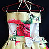 Платье нарядное бальное детское Мак и Пион (3D- рисунок) 6 лет светло желтое Украина оптом., фото 2