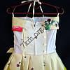 Платье нарядное бальное детское Мак и Пион (3D- рисунок) 6 лет светло желтое Украина оптом., фото 3