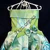 Платье нарядное бальное детское Шикарная роза (3D- рисунок) 6 лет салатовое Украина оптом., фото 2