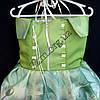 Платье нарядное бальное детское Шикарная роза (3D- рисунок) 6 лет салатовое Украина оптом., фото 3