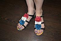 Босоножки с цветами, 36р, фото 1