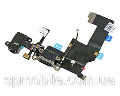 Шлейф Apple iPhone 5G (+Charge/Microphone/Head) Black Original