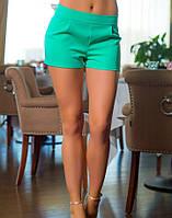 Летние женские шорты бирюзовые