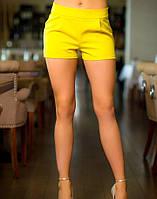Летние женские шорты желтые