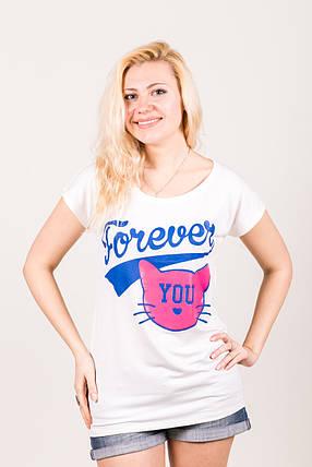 Футболка-туника 108 Forever You белый, фото 2