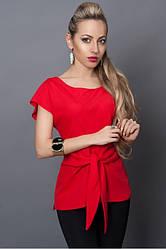 Стильная летняя красная блуза