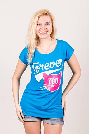 Футболка-туника 108 Forever You бирюза, фото 2