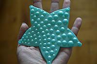 Звезда ОРТО бирюза. Мини-коврики в ванную